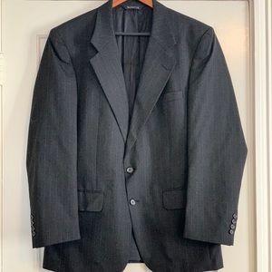Burberry Dark Grey Pinstripe Blazer 42R